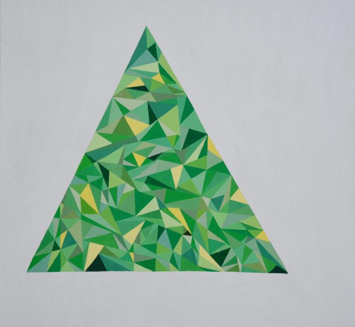 Green Triangle 36 x 36