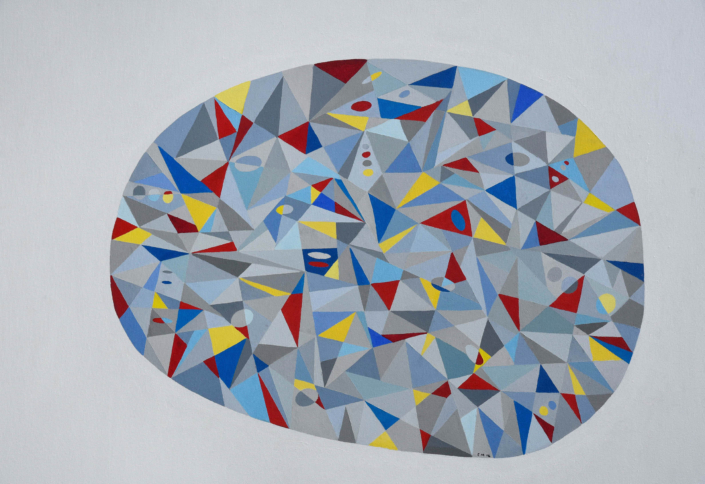 Gray Egg 48 x 36