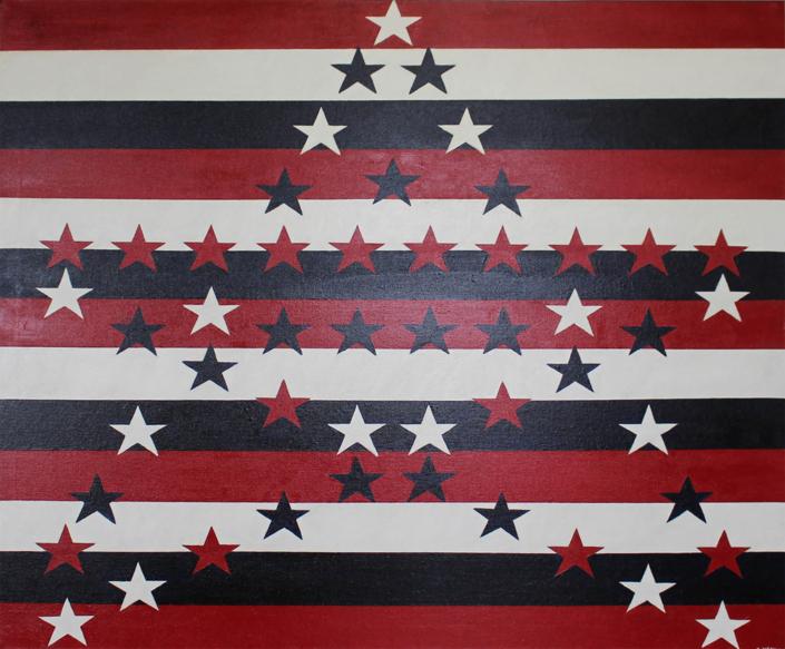 Jasper Johns Redux 48 x 36